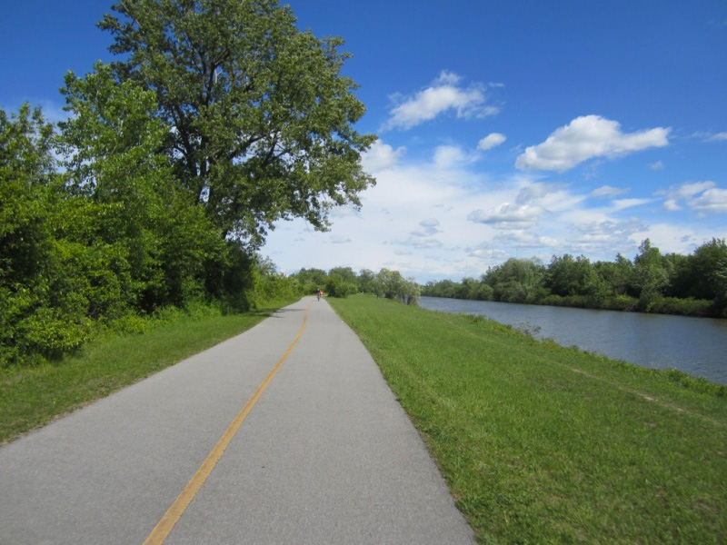 Various images along the path before reaching Pittsford. On the way, we pass Locks 33 then 32. [PHOTO: Ryan Green]