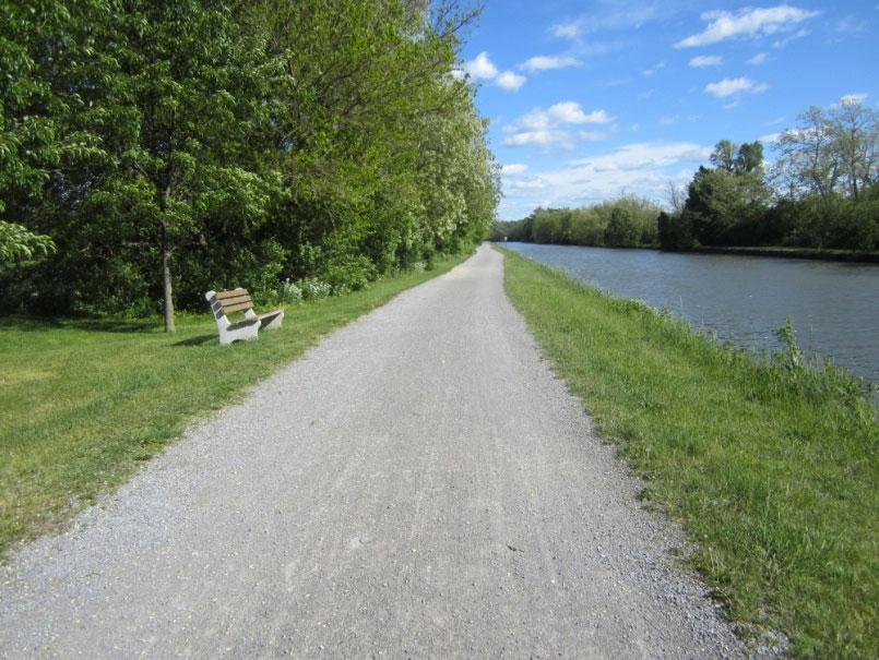 Erie Canal Path nearing Bushnell's Basin. [PHOTO: Ryan Green]