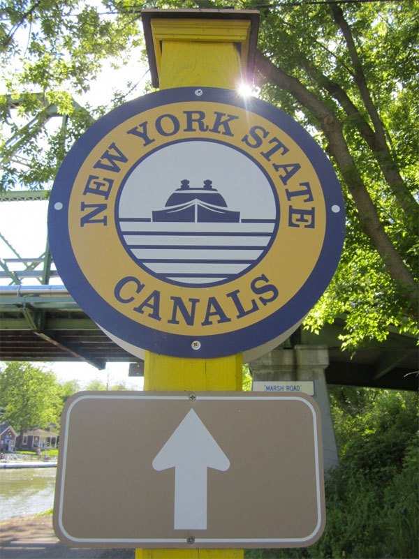 Erie Canal Path sign. [PHOTO: Ryan Green]
