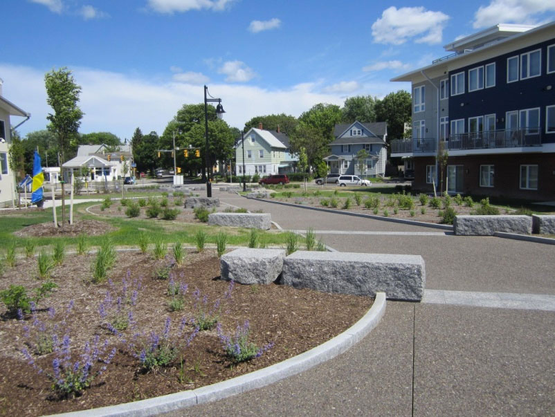 The path near the Erie Harbor Apartments has seen a recent upgrade. [PHOTO: Ryan Green]