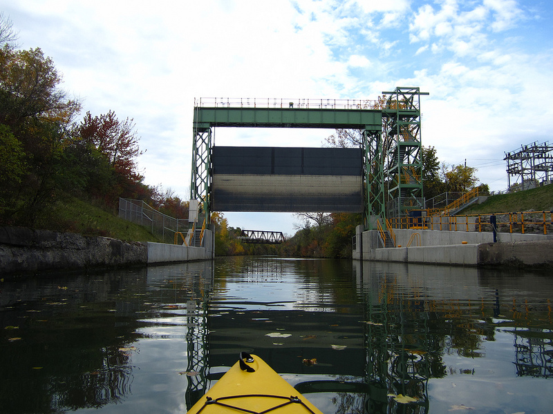 The view above shows the guard gates from a kayaking trip. [PHOTO: Ryan Green]