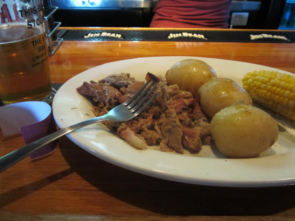 I decided to get food at the Stoneyard Bar & Grill, at One Main Street. [PHOTO: Ryan Green]