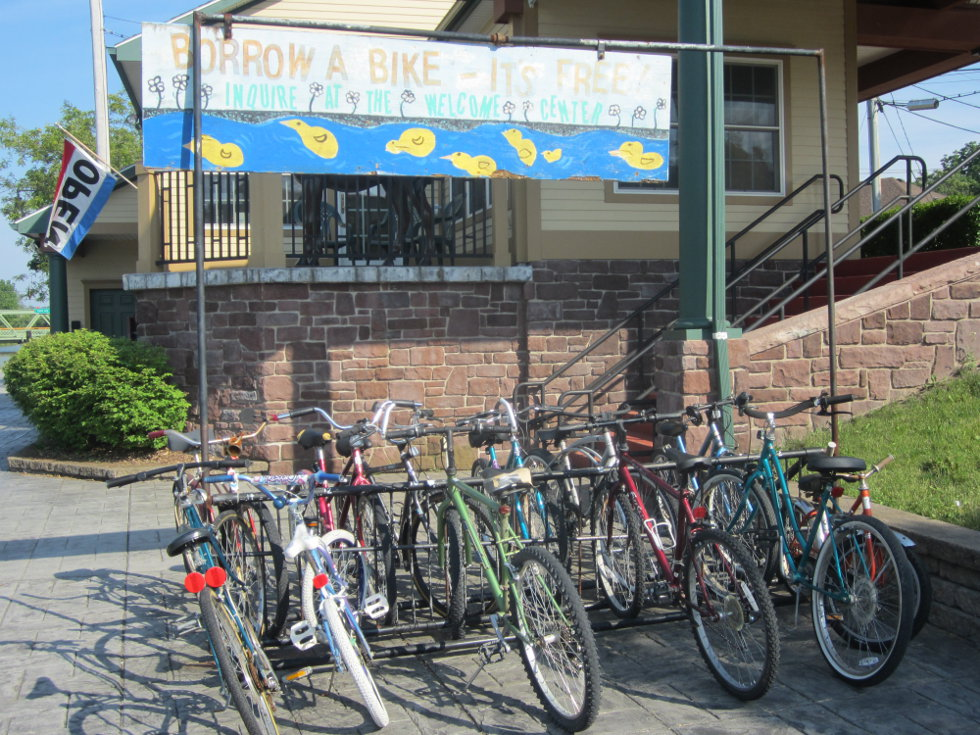 Brockport has a free bike sharing program! How cool is that?! [PHOTO: Ryan Green]