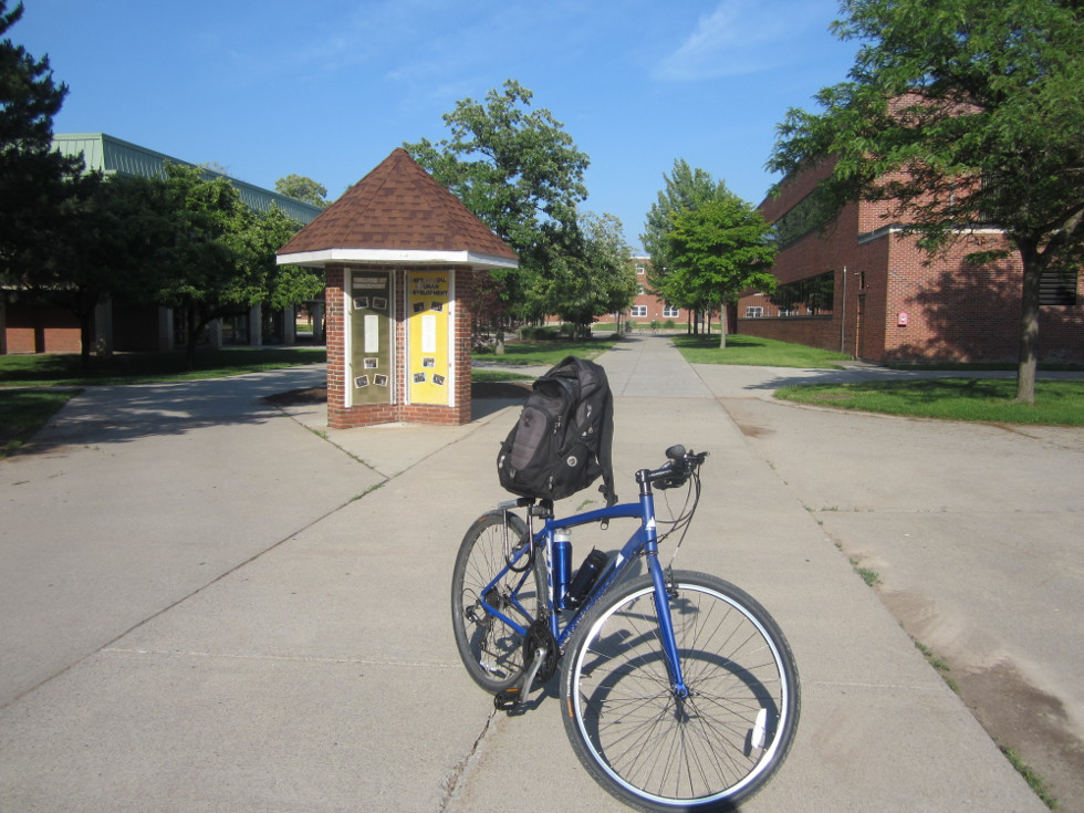 And here is the furthest west my bike has been from Rochester, at just over 25 west of the city. [PHOTO: Ryan Green]