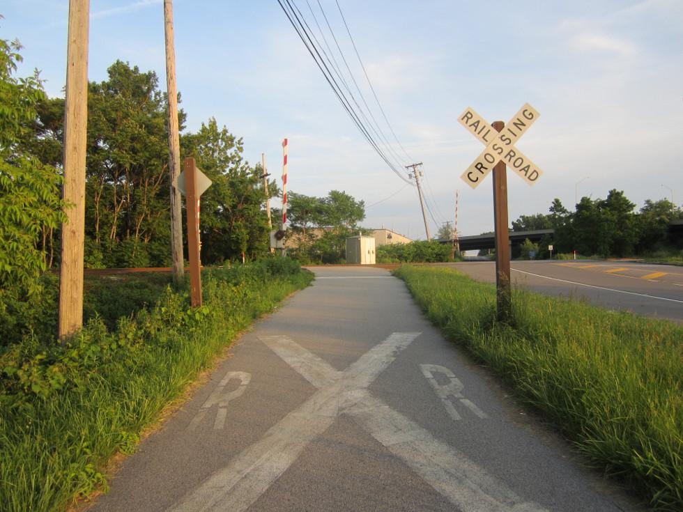 The railroad crossing near Chili Ave. [PHOTO: Ryan Green]