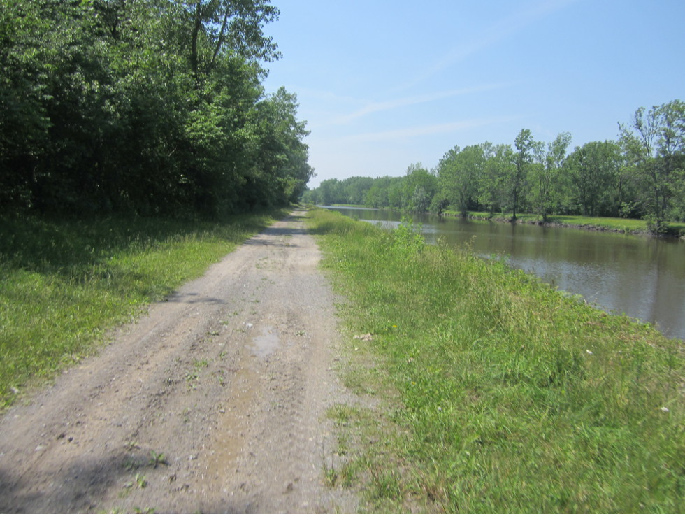 This is what the trail looks like if you don't cross over at Long Pond: rocky and muddy. [PHOTO: Ryan Green]