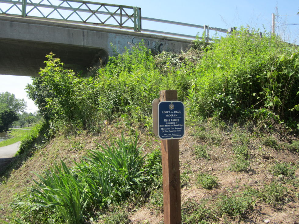 I didn't know the trail had similar programs to the Adopt-a-Highway Programs of the roads before. [PHOTO: Ryan Green]