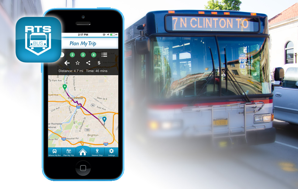 The new RTS 'Where's My Bus?' mobile app is now available!