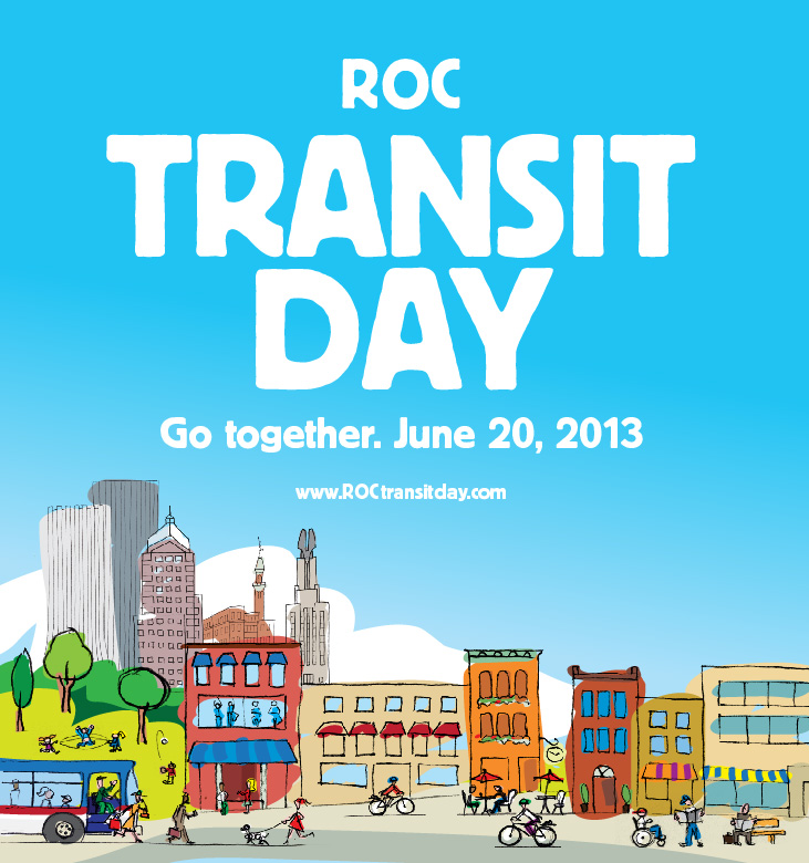 ROC Transit Day is tomorrow. Join in the fun. Ditch your car for a day.