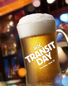 Transit Riders will receive a free beer and appetizers at Legend's Sports Bar (while supplies last).