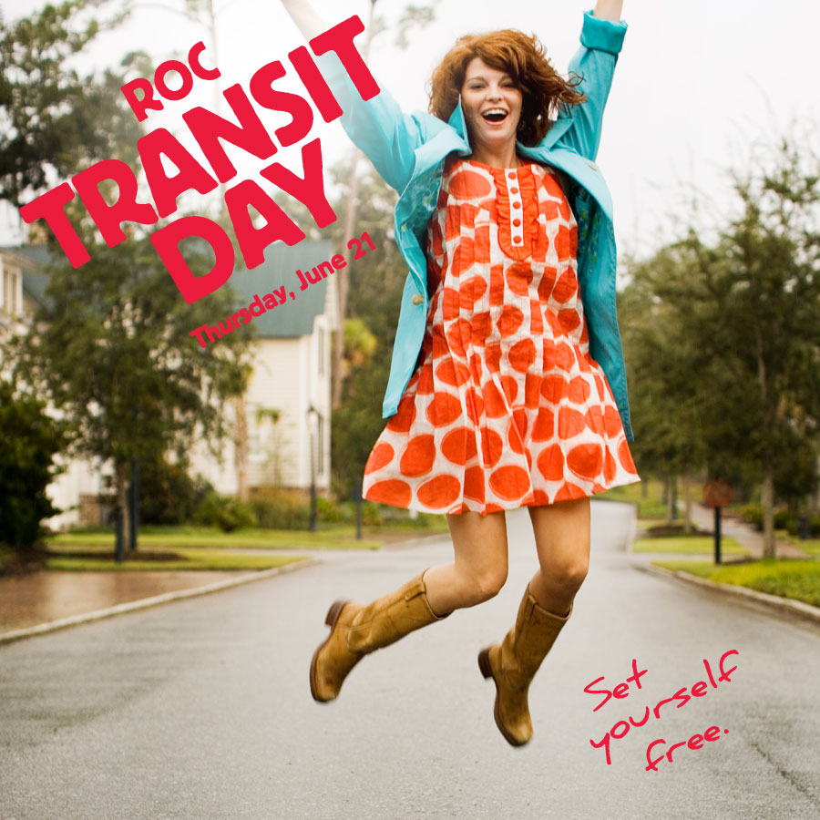 ROC Transit Day is coming! Be car-free with us on June 21.