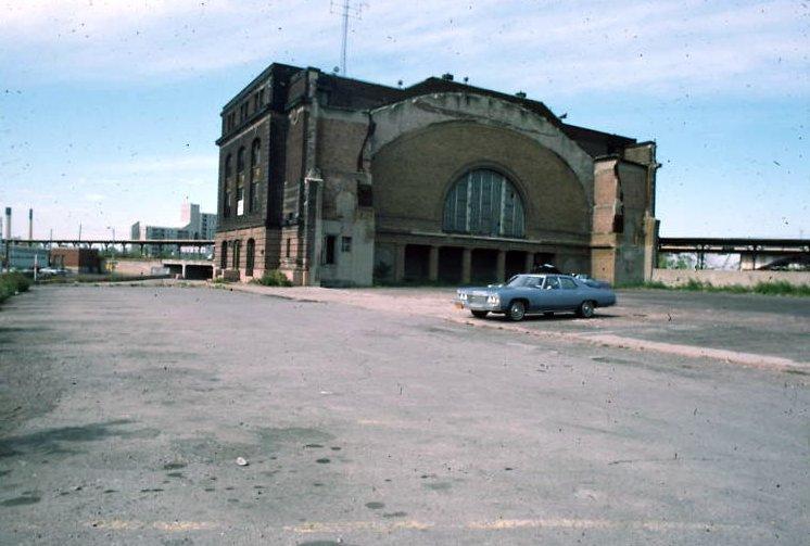 Rochester's NY Central (Bragdon) Station half demolished, c.1970? [PHOTO VIA: John R. Stewart]