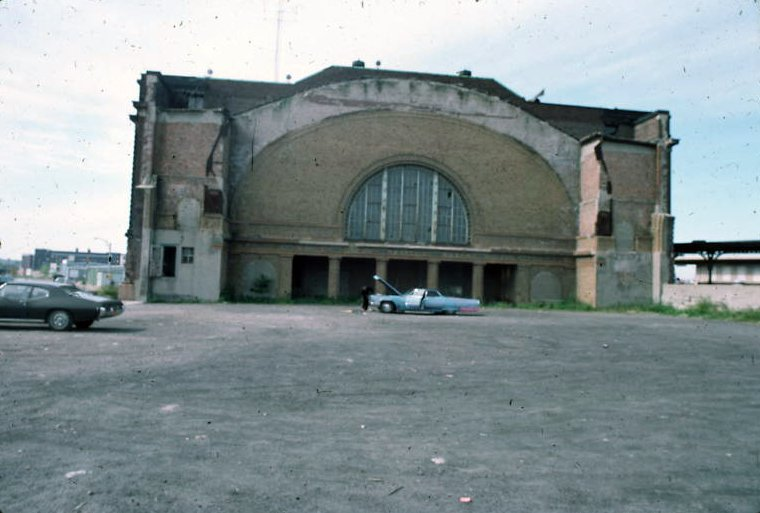 Rochester's NY Central (Bragdon) Station half demolished, c.1970? [PHOTO VIA: John R. Stewart]