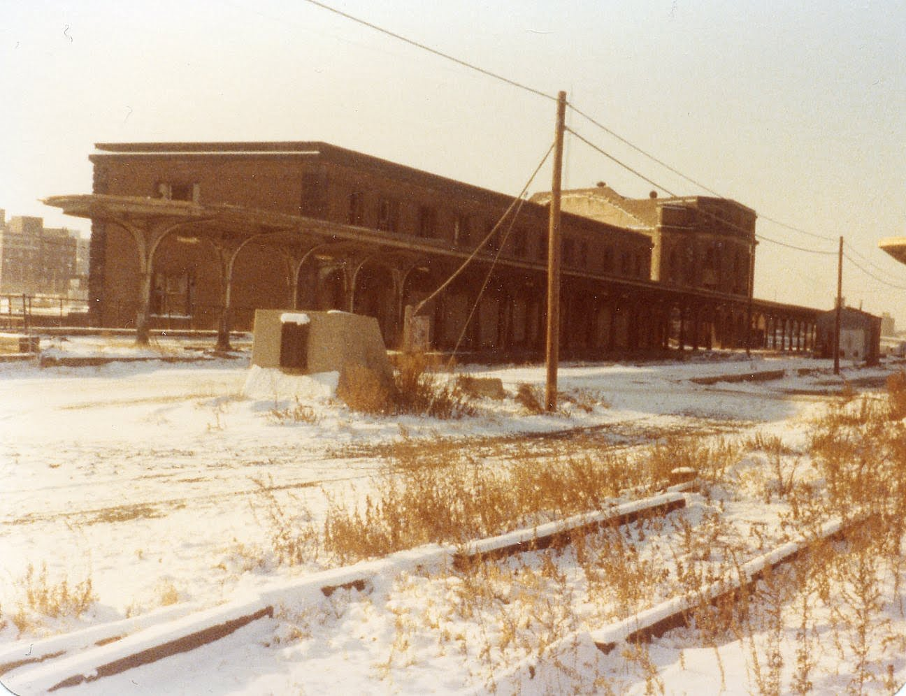 Rochester's NY Central (Bragdon) Station half demolished, c.1970? [PHOTO VIA: Christopher Playford]