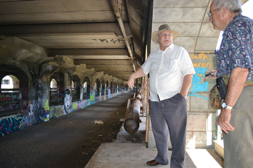Lewis Childs, co-founder of Broad Street Underground, explains how Rochester's abandoned subway tunnel could be converted into commercial and retail space. [PHOTO: RochesterSubway.com]