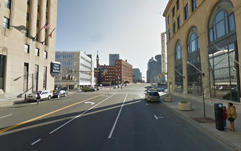 Google street view of the same intersection today. [IMAGE: Google Maps]