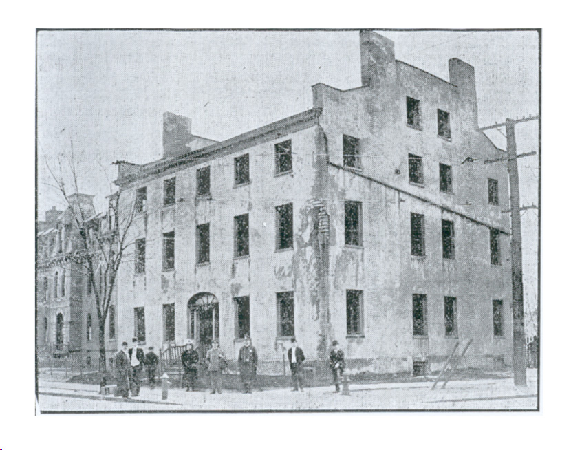 The Bull's Head Tavern, 1827-1908, seems to be the source for the name. [PHOTO via John Curran]