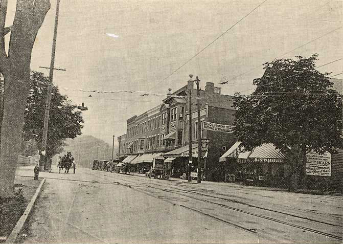 This was Bull's Head in 1895. [PHOTO: Local History Division, Rochester Public Library]