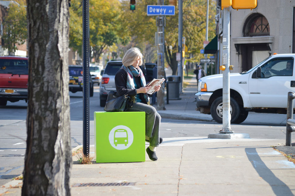 Reconnect Rochester is aiming to come up with a solution for the lack of seating at bus stops in our region.