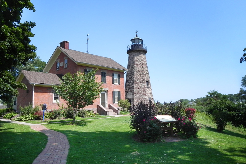 The Charlotte lighthouse in summer, 2014. [PHOTO: Joanne Brokaw]