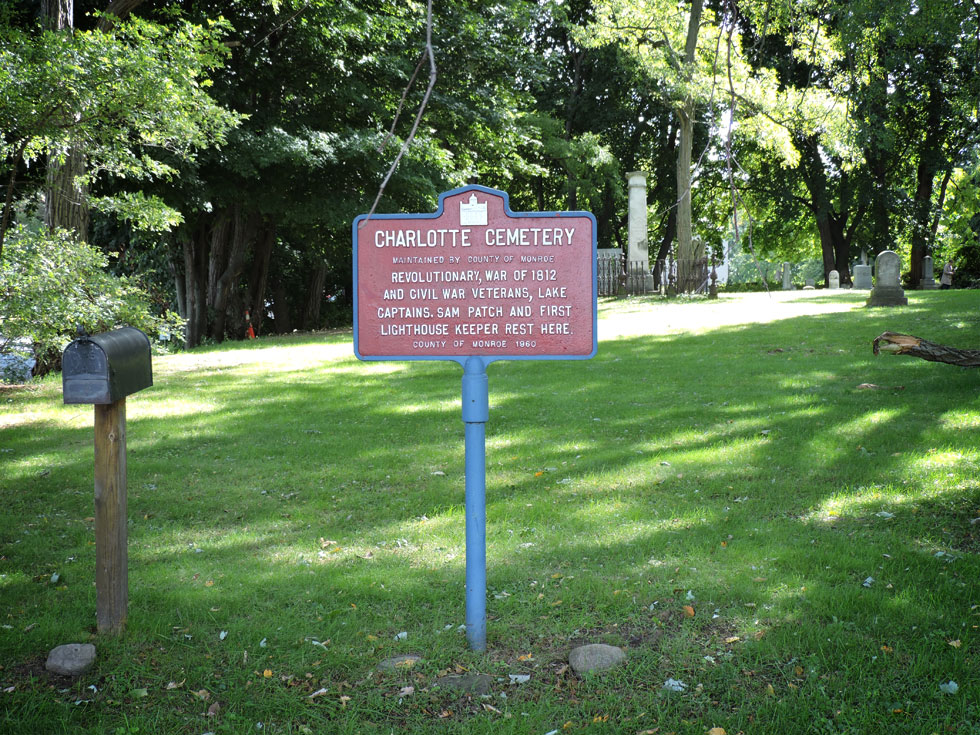 The Charlotte Cemetery is located on River Street, off Lake Avenue. [PHOTO: Joanne Brokaw]