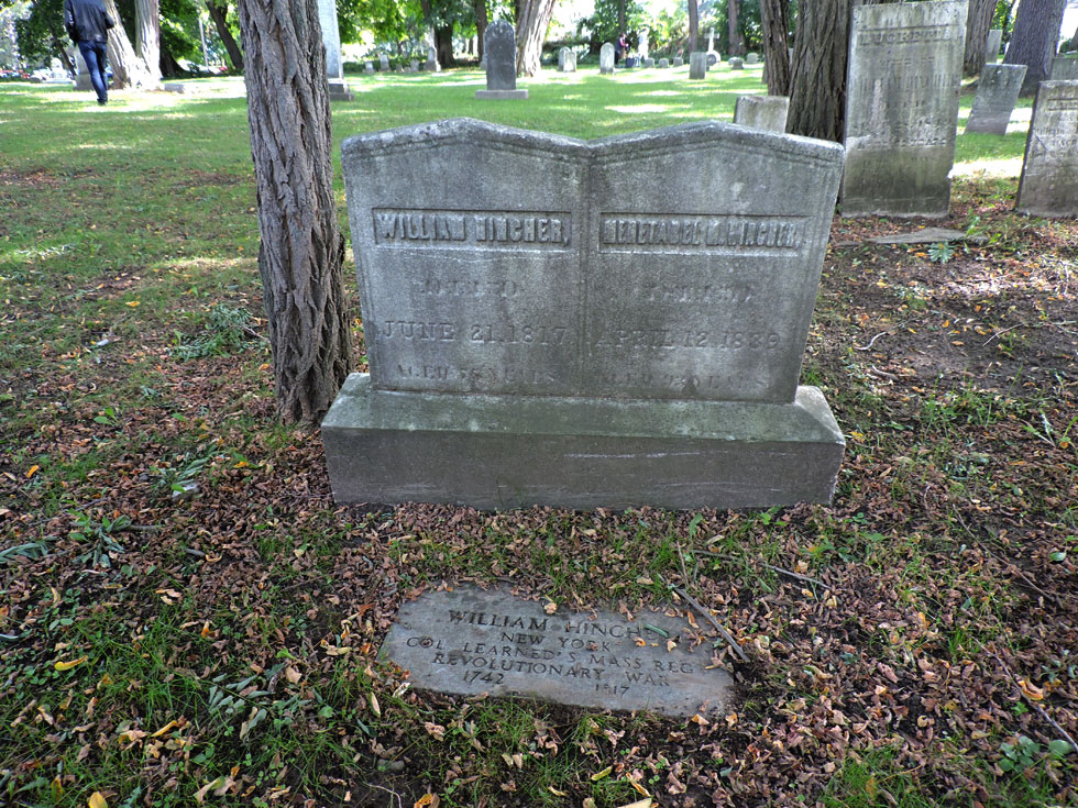 The final resting place of William and Mehetabel Hincher, the first settlers in Charlotte. [PHOTO: Joanne Brokaw]