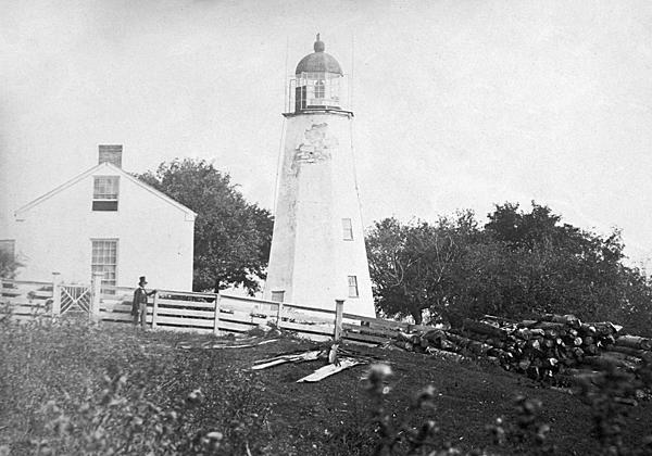 Charlotte lighthouse, 1858. [PHOTO: U.S. National Archives (we think?)]