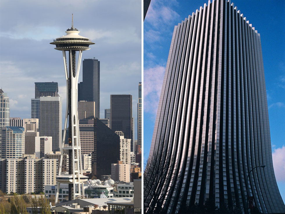 Chase Tower (on the right) has roots in Seattle. [PHOTO: Sm. Caruso, Flickr]