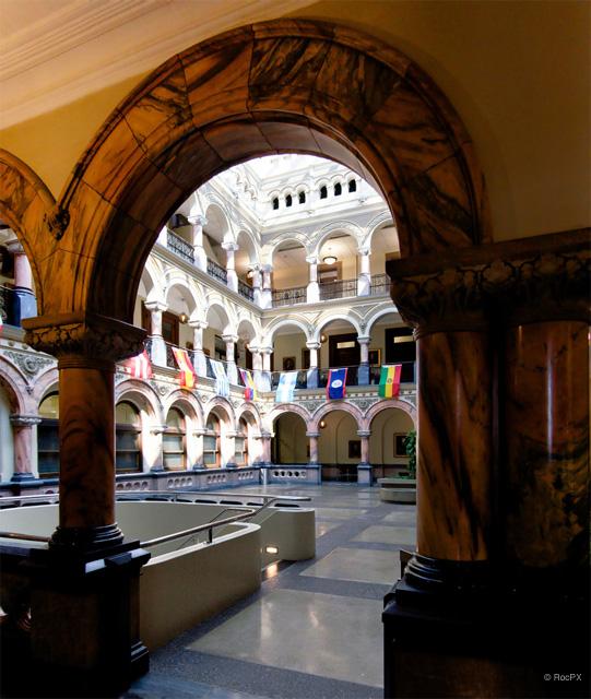 Old Federal Building (now City Hall) atrium. [PHOTO: Rick U.]