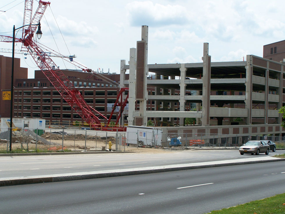 Construction on College Town, at University of Rochester. June 2014. [PHOTO: Jimmy Combs]