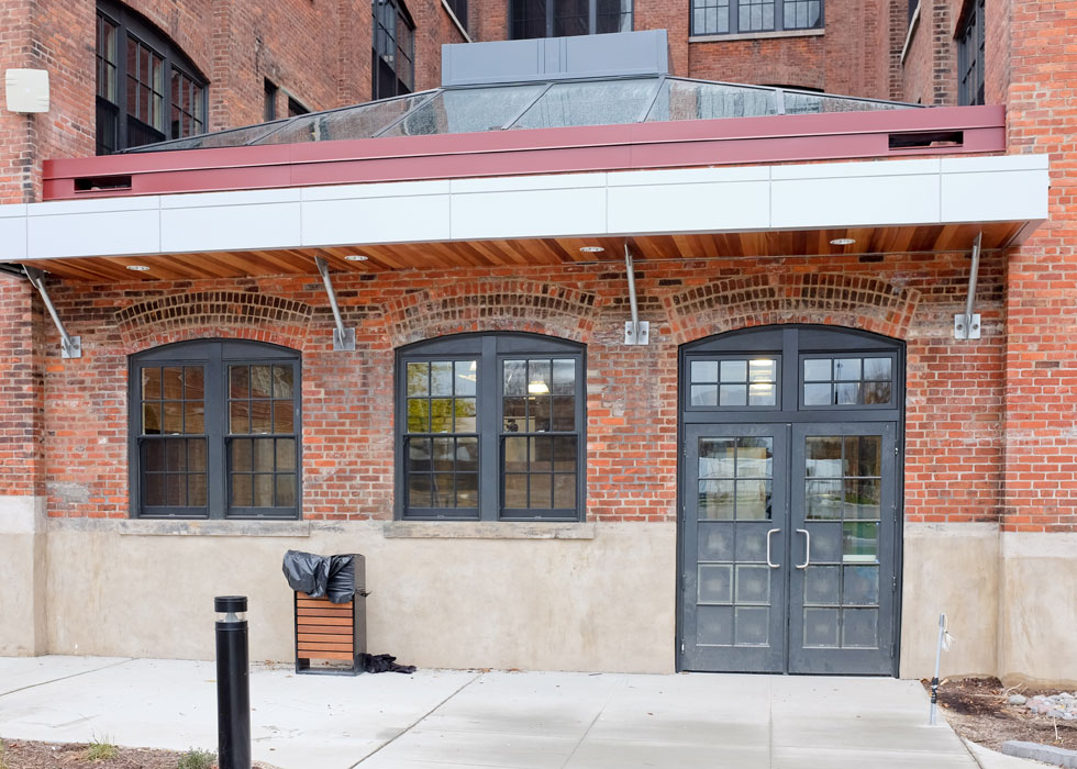 Carriage Factory atrium, Rochester NY. [PHOTO PROVIDED BY: Preservation Studios]