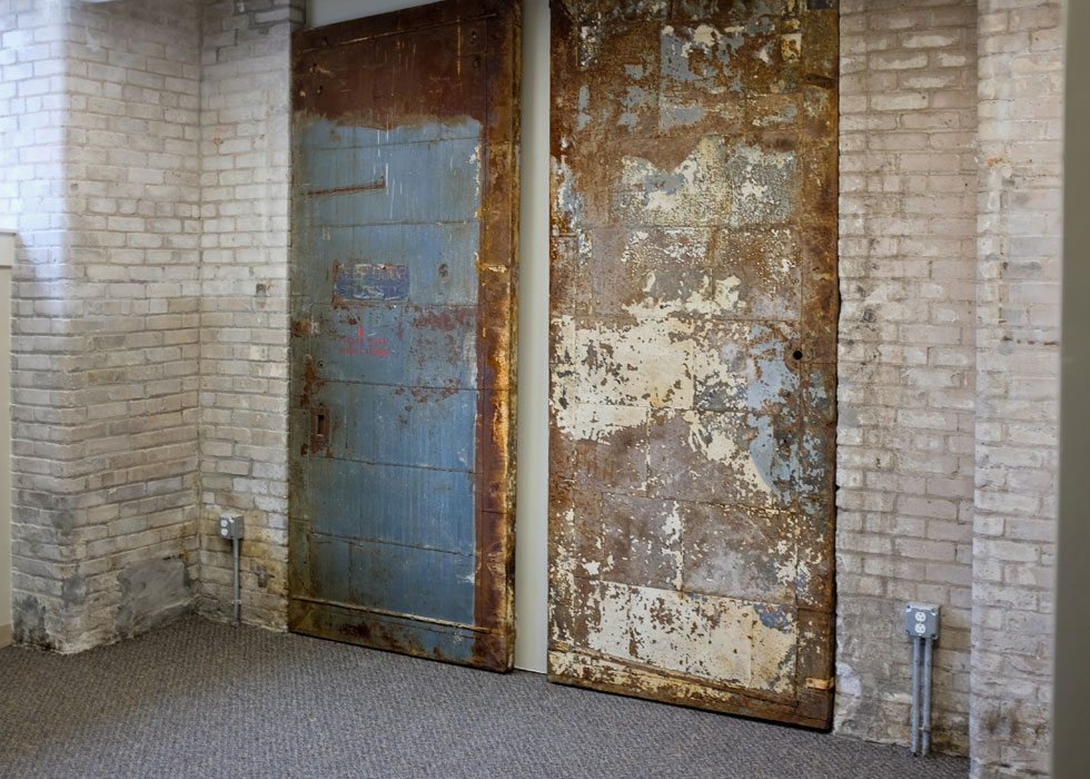 Carriage Factory fire doors, Rochester NY. [PHOTO PROVIDED BY: Preservation Studios]