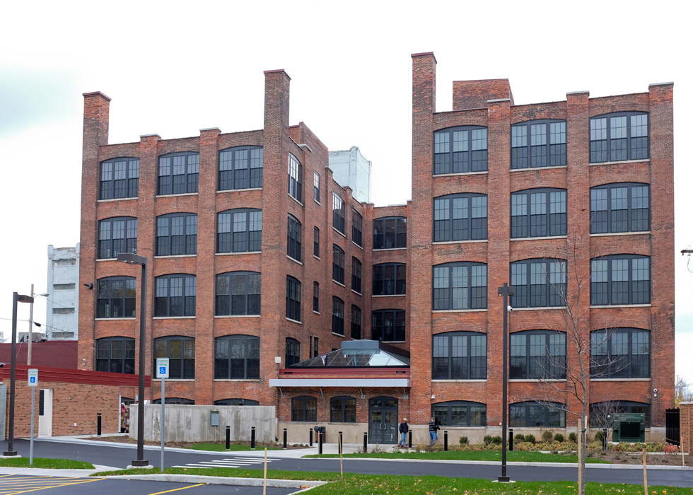 Carriage Factory (south side), Rochester NY. [PHOTO PROVIDED BY: Preservation Studios]