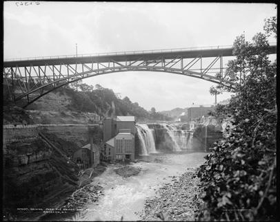 Driving Park Bridge and Lower Falls, c.1904