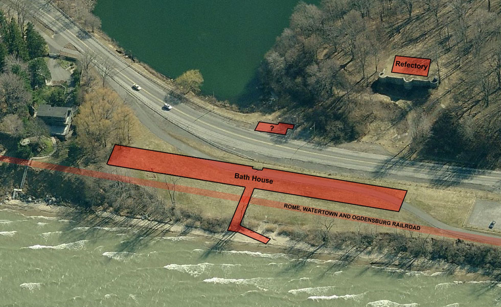 This drawing shows the approximate location of the Durand Eastman bath house. [IMAGE: RochesterSubway.com]