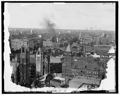 Birdseye view of Fitzhugh Street, Rochester, NY. c.1904. [PHOTO: Detroit Publishing Co. via Library of Congress]