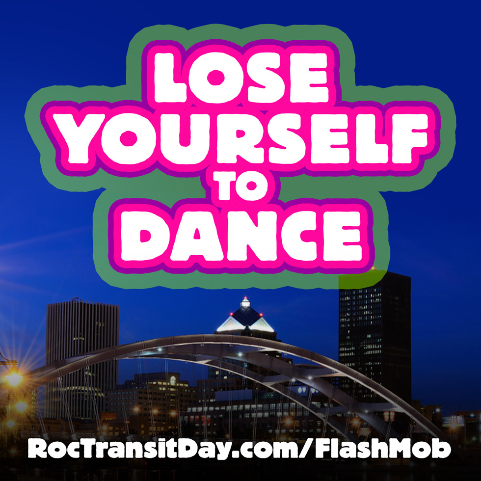 On Thursday, June 18, at exactly 9:07a.m. we're going to start the biggest spontaneous dance party ever to take place in downtown Rochester. For the exact location and to learn the dance moves, watch the video. [IMAGE: ReconnectRochester.org]