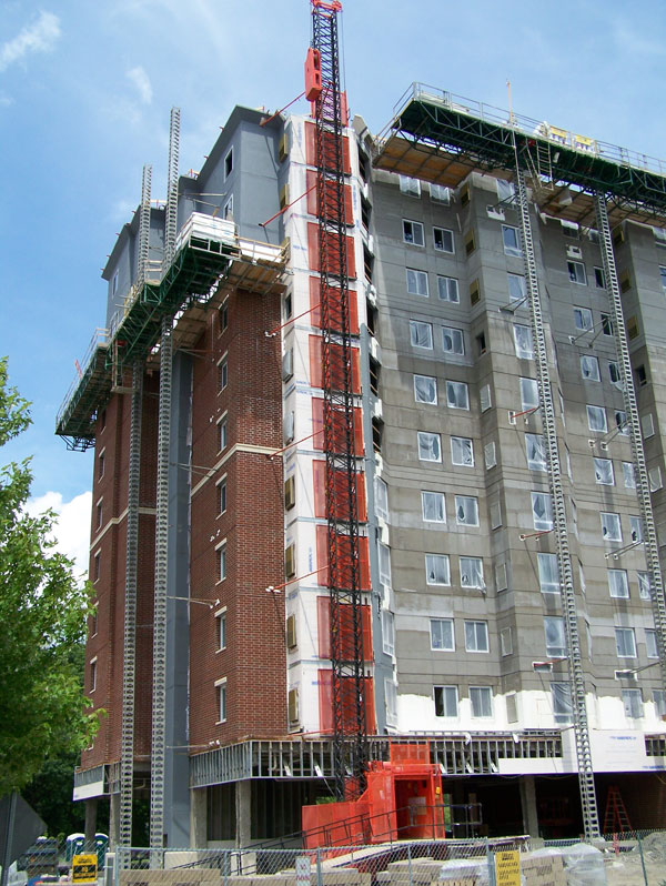 Construction on The Flats at Brooks Crossing, at University of Rochester. June 2014. [PHOTO: Jimmy Combs]