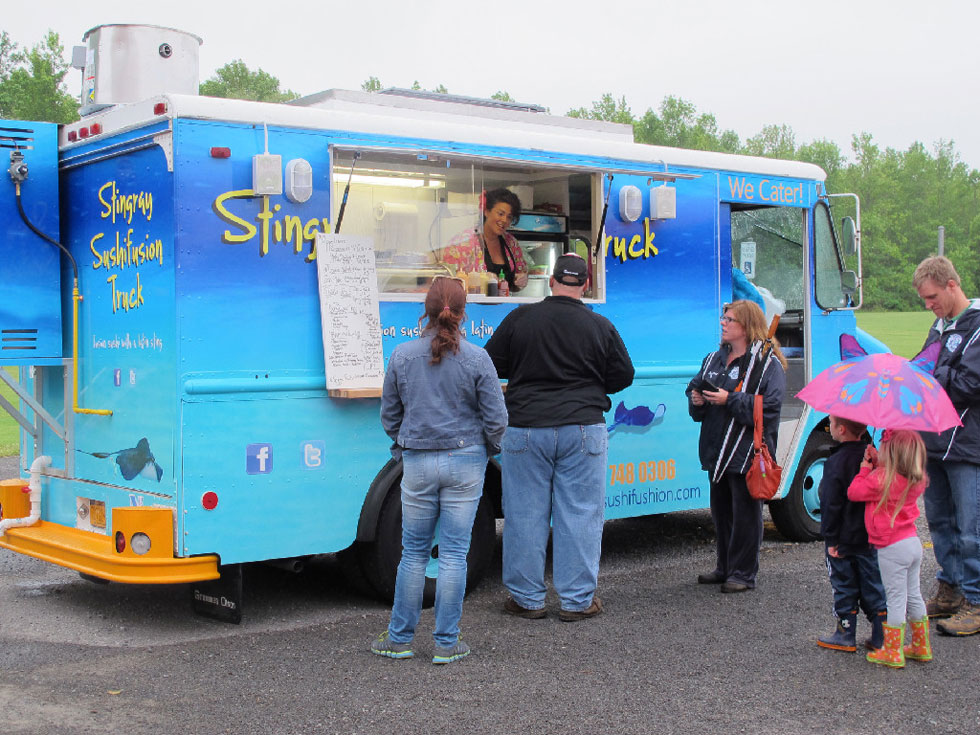 Stingray Sushi Fusion food truck, Rochester NY. [PHOTO: Stingray Sushi Fusion]