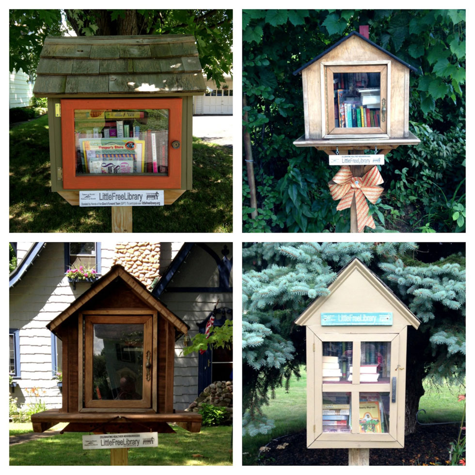 The Little Free Libraries of Rochester, NY. [PHOTO: Chris Clemens]