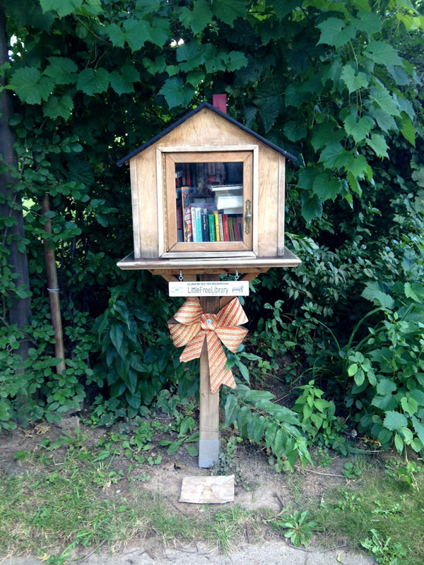 Little Free Library at Arbor Drive (Between Azalea and Laney). [PHOTO: Chris Clemens]