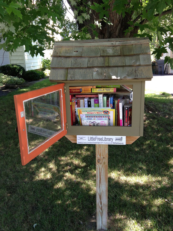 Little Free Library at 30 Newcrest Drive. [PHOTO: Chris Clemens]
