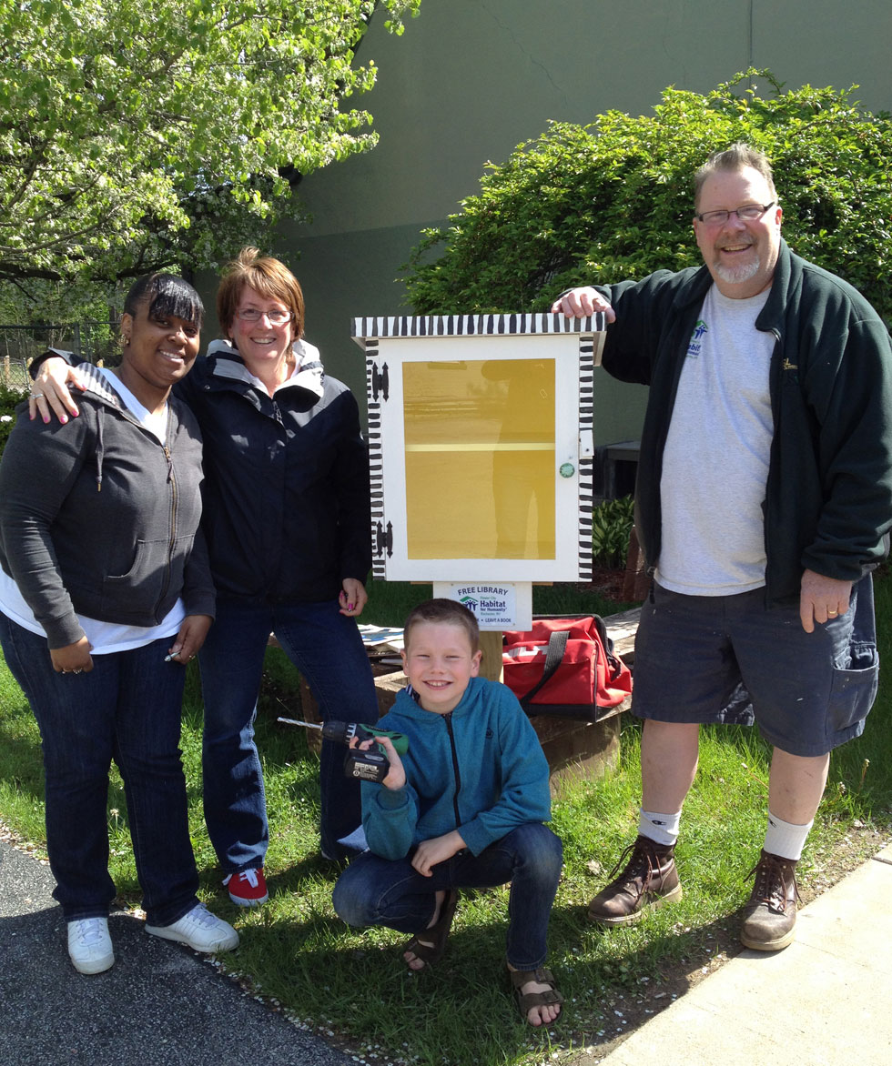 A Little Free Library at 431 Jay St. Rochester, NY. [PHOTO: Deanna Varble]