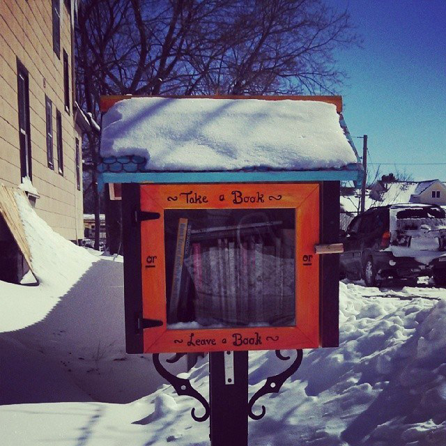 A Little Free Library at 415 Gregory Street. Rochester, NY. [PHOTO: Deanna Varble]
