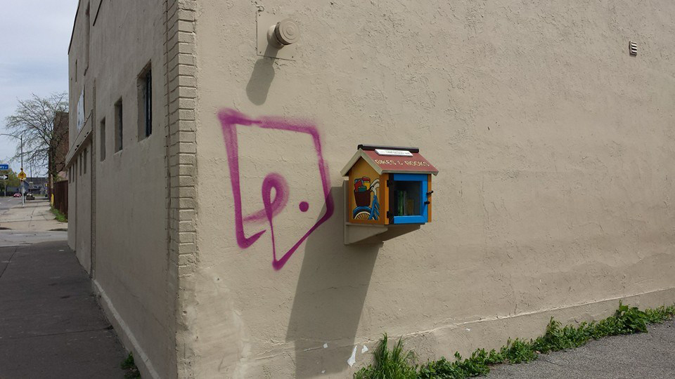 A Little Free Libraries at 226 Hudson Avenue. Rochester, NY. [PHOTO: Deanna Varble]