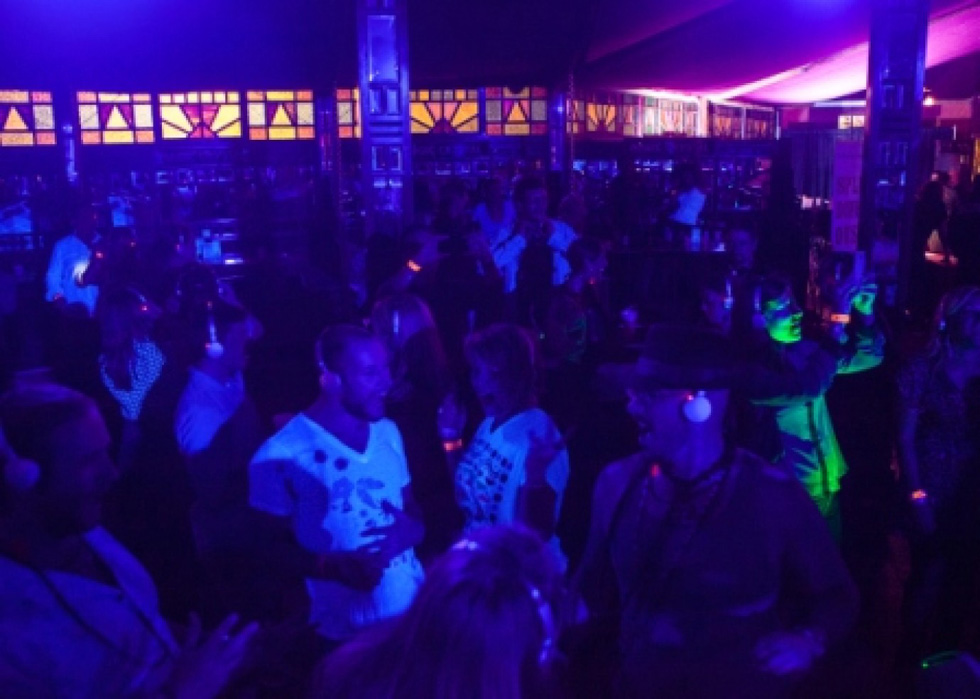 Silent Disco at the First Niagara Fringe Festival. [PHOTO: Provided]