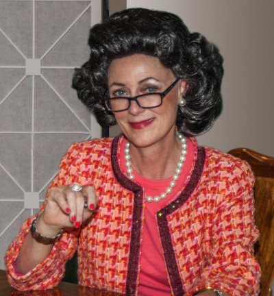 Sinda Nichols as Ann Landers at the First Niagara Fringe Festival. [PHOTO: Provided]