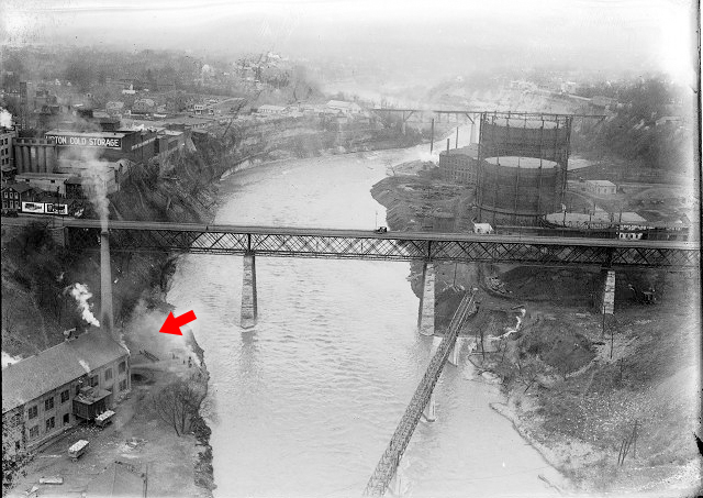 The Garbage Incinerator at High Falls, Rochester. [PHOTO: Albert R. Stone]