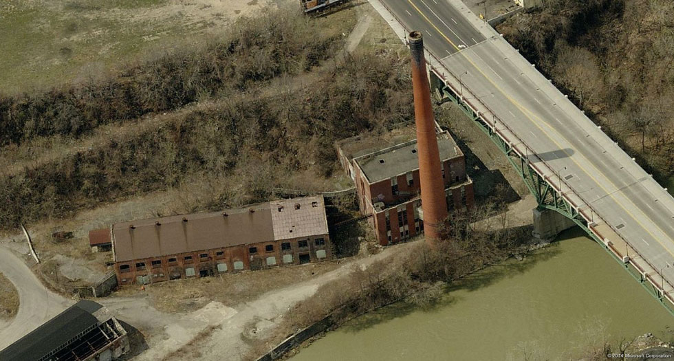 The Garbage Incinerator at High Falls, Rochester.