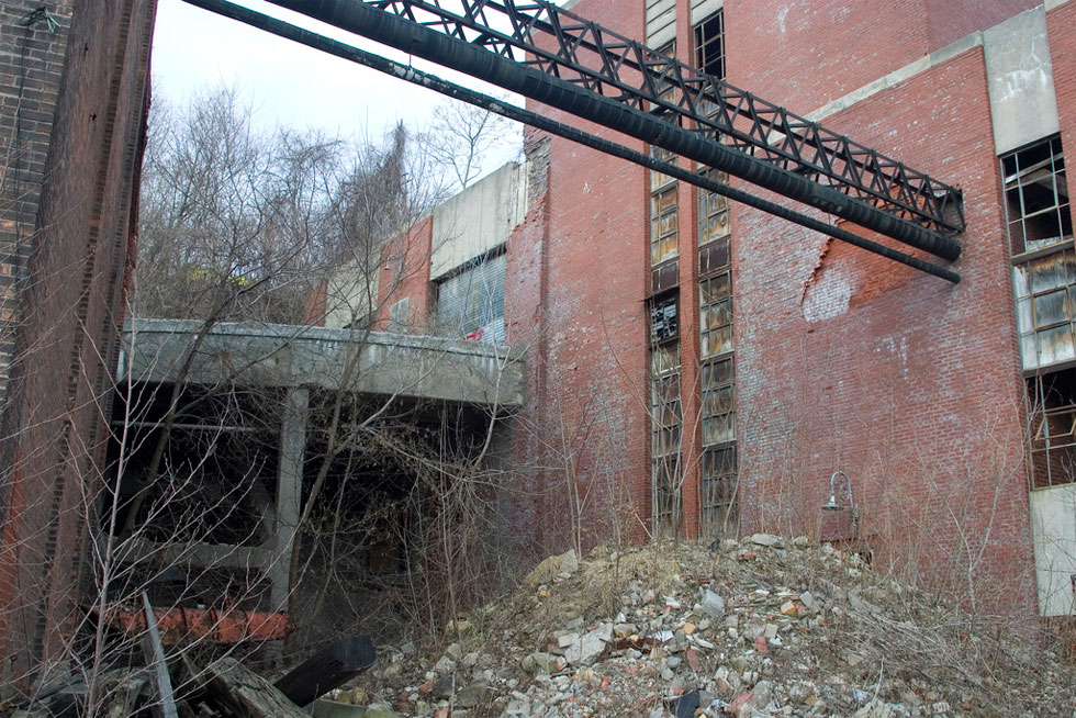 The Garbage Incinerator at High Falls, Rochester. [PHOTO: Tom Maszerowski]